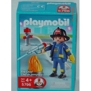 プレイモービル 5796 消防士 Playmobil Fire Chief Action Figure Set (5796)