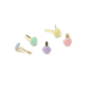 ブラッド(割りピン)Brads : Painted Metal Fastener/ Round 3mm- Pastel (1パック約100pcs入り)