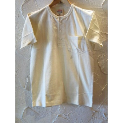 GLAD HAND(グラッドハンド)/STANDARD HENRY POCKET T-SHIRTS WHITE(OFF)