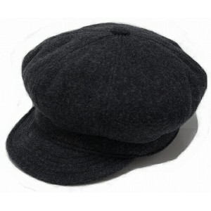 New York Hat(ニューヨークハット) キャスケット #9055 WOOL SPITFIRE, Charcoal