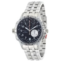 ハミルトン カーキ メンズ 腕時計 Hamilton Men's H77612133 Khaki ETO Black Chronograph Dial Watch