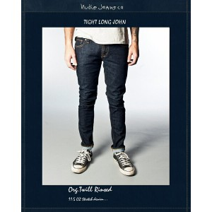 "【NudieJeans""TightLongJohn/Org.Twill-Rinsed""L30】【ヌーディージーンズ""タイトロングジョン】"