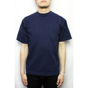CAMBER キャンバー #302 ポケットTシャツ HEAVYWEIGHT POCKET TEE (COLOR : NAVY)