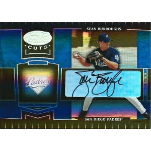 ショーン・バローズ MLBカード Sean Burroughs 2004 Leaf Certified Cuts Marble Signature Blue 07/25