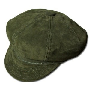 New York Hat(ニューヨークハット) スエードキャスケット #9260 SUEDE SPITFIRE, Olive