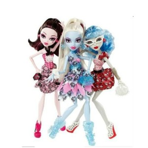 モンスターハイ Exclusive Dot Dead Gorgeous 3 Pack Draculaura, Abbey Bominable, Ghoulia Yelps