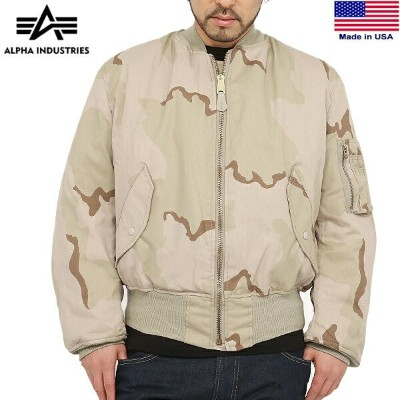 10%OFFクーポン対象◆[MA-1] ALPHA INDUSTRIES アルファインダストリーズ MADE IN U.S.A MA-1 フライトジャケット 3COLOR DESERT ALPHA...