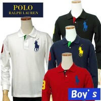 POLO by Ralph Lauren Boy'sビッグポニー長袖鹿の子ポロシャツ【2015-Spring/NewColor】【ラルフローレン ボーイズ】