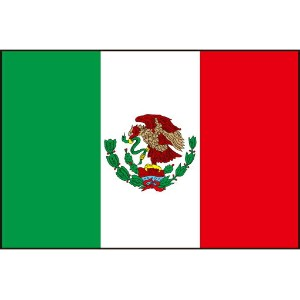 105cm 小サイズ・ポリエステル・国旗 メキシコ合衆国(The United Mexican States / Mexico 墨西哥)・National flag【応援グッズ】