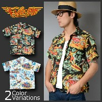 "SUN SURF(サンサーフ) Mister Freedom × Sun Surf Rock&Roll Shirt ""Action Paked"" アロハシャツ SC36970"