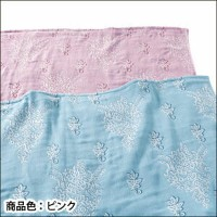 PARTY PARTY ガーゼケット 2835-4581-5100 ピンク Lid192-PK