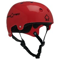 【PRO-TEC プロテック】CLASSIC BUCKY(TRANSLUCENT RED)【2-STAGE】【HDPE FLEX】Helmets スケートヘルメットスケートボード スケボー sk8...