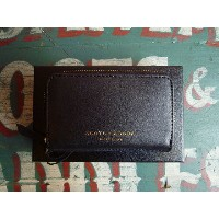 ★SCOTCH&SODAスコッチアンドソーダ★LEATHER COIN WALLET SC77143コインケースBLACK/NAVYsuede(A)