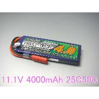 Turnigy nano-tech 11.1V 4000mAh 25C50C リポ