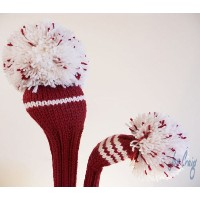 Jan Craig Red White Stripe Headcover Sets 【ゴルフ アクセサリー>ヘッドカバー】