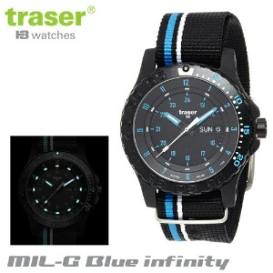 【Traser Watches】トレーサー trigalight 軍事用時計 「MIL-G Blue infinity」