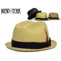 ☆NEWYORKHAT【ニューヨークハット】#2124 STRAW LOUIE ストロールイ ストロー素材中折れハット 9755 10574 12146【送料無料】【全3色】【楽フェス...