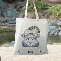 "WOWCH NY""SPLAT*CAT TOTE"" プリントトートバッグ [ウォウチ プリントトート エコバッグ ]"