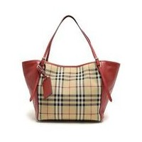 バーバリー BURBERRY 3939898 7050B HORSEFERRY CHECK SMALL CANTERBURY PANELS TOTE オープントートバッグ HONEY PARADE...