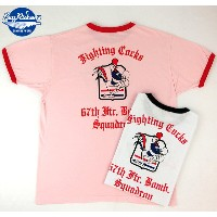 """No.BR76683 BUZZ RICKSON'S バズリクソンズS/S RINGER T-SHIRT""""67th FIGHTER SQ."""""""