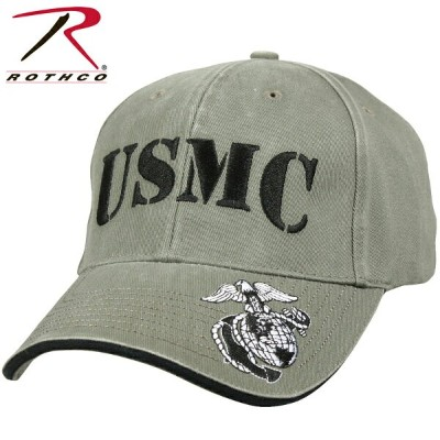 【20%OFFクーポン対象】ROTHCO ロスコ Vintage Deluxe Low Profile Cap U.S.M.C. OLIVE 【9738】《WIP》 ミリタリー 男性 ギフト...
