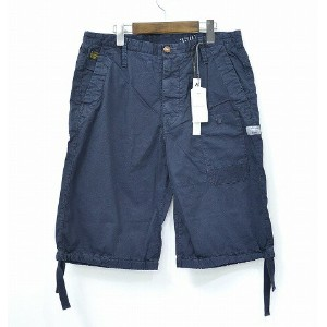 【新品】 G-STAR RAW (ジースターロウ) RAHUL CHINO TAPERED 1/2 ハーフチノパンツ 32 INDIGO 短パン ショートパンツ