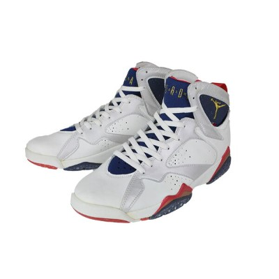 "[1992年製オリジナル]NIKE [AIR JORDAN 7] ""OLYMPIC"" WHITE/MNNAVY-TRURED"