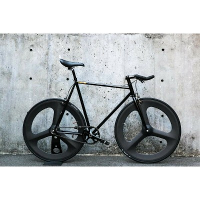 "CARTEL BIKES ""AVENUE LO"" DINER FRONT & REAR CARBON 3 SPOKE CUSTOM MAT BLACK 【カーテルバイク アベニュー ロウ ダイナー..."