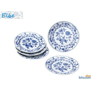 美濃焼 エルベケーキ皿5枚セット19.5x高2.5cm【elbe,tableware,dish,plate,gift】【made in japan】【bloom-plus】