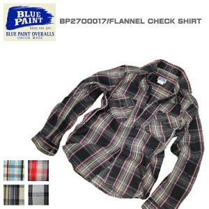 BLUE PAINT ブルーペイント FLANNEL CHECK SHIRT ネルシャツ BP27O0017 5color
