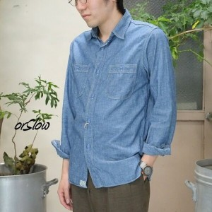 orSlow(オアスロウ)/WORK SHIRTS - (84) CHAMBRAY-【S】