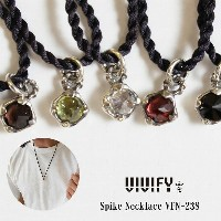 【VIVIFY 正規店】VIVIFY ビビファイ ネックレス ストーン シルク紐Spike Necklace 受注生産