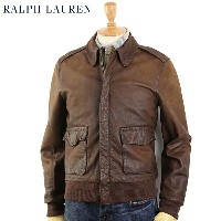 """POLO by Ralph Lauren """"Type A-2"""" Leather Flight Jacket US ポロ ラルフローレン A-2 レザー フライトジャケット"""