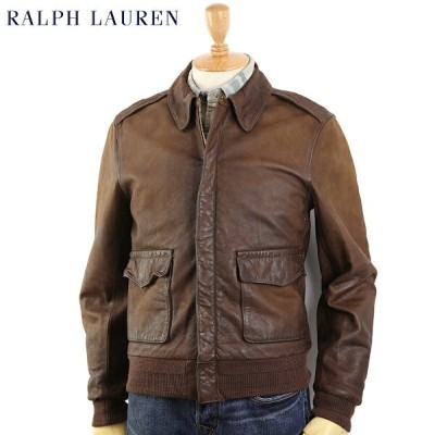 "POLO by Ralph Lauren ""Type A-2"" Leather Flight Jacket US ポロ ラルフローレン A-2 レザー フライトジャケット"