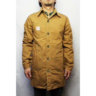 ポインターブランドPOINTER BRANDLong Jacket with 1/2 Circle Pockets カバーオール ジャケット BROWN DUCK【05P03Sep16】