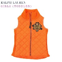 (2-6X) POLO by Ralph Lauren GIRLS (2-6X) Quilted Vest USラルフローレン ガールズ用 キルティング ベスト (UPS)