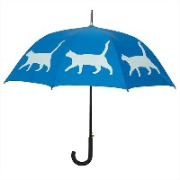 The San Francisco Umbrella Company 長傘 ジャンプ ネコ Blue/Blue