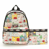 LeSportsac 7812-P687 PEANUTS SNOOPY PATCHWORK/スヌーピーパッチワーク Basic Backpack(ベーシックバックパック)リュックサック...