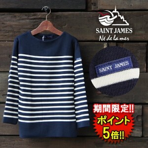 【SAINT JAMES】 NAVAL SWEATERS (14jl50-50162-1r) Men's & Lady's □