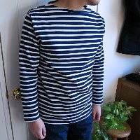 Saint James Ouessant セントジェームス ウェッソン  ボーダー MARINE/NEIGE