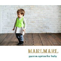 【MARLMARL/マールマール】garcon apron/slash stripe/yelloe flower baby