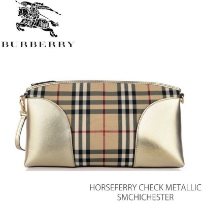【LaG After SALE 開催中】【送料無料】【並行輸入品】【BURBERRY-バーバリー】SM CHICHESTER Horseferry Check Metallic