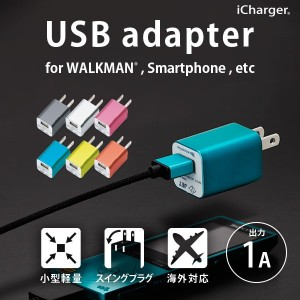 iCharger WALKMAN Smartphone用 USB電源アダプタ 1A