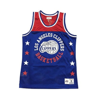 【MITCHELL&NESS】 NBA CLIPPERS CHAMPIONSHIP GAME MESH TANK TOP [BLUE-RED] / ミッチェル&ネス クリッパーズ チャンピオンシップ...