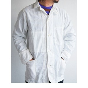 【送料無料】WORKERS(ワーカーズ)~Light Railroad Jacket WHITE~