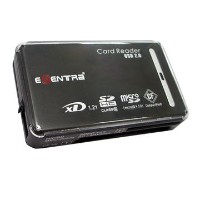 E-SENTRA USB2.0 カード リーダー/ライター(All in1) 黒【6000円以上送料無料】 05P11Aug14 【RCP】