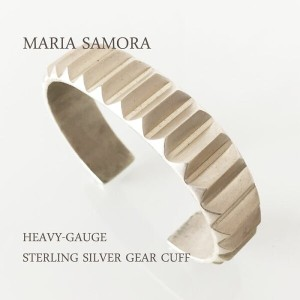 マリア サモラ シルバー ギア バングル MARIA SAMORA HEAVY-GAUGE STERLING SILVER GEAR CUFF BANGLE