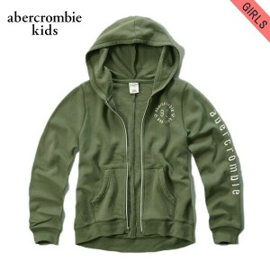 【15%OFFセール 5/25 10:00~5/30 23:59】 アバクロキッズ AbercrombieKids 正規品 子供服 ガールズ パーカー applique logo graphic...