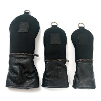 Rose & Fire Ballistic Nylon Black Leather Headcover Set【ゴルフ アクセサリー>ヘッドカバー】