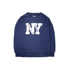 ONLY NY OUTFIELD FRENCH TERRY CREW SWEAT (NAVY)オンリーニューヨーク/クルーネックスウェット/紺